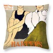 1897 - Harpers Magazine Poster - Color Throw Pillow