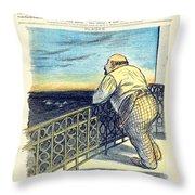 1897 - Le Rire Journal Humoristique Paraissant Le Samedi Magazine Cover - July 31 - Color Throw Pillow