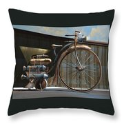 1898 Schwartze Fahrtencycle Throw Pillow