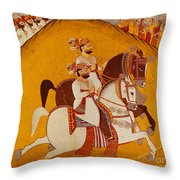 18th Century Indian Painting Throw Pillow