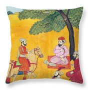 18th Century Picnic  Throw Pillow