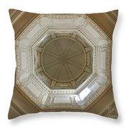 18th Century State House Rotunda Dome Throw Pillow