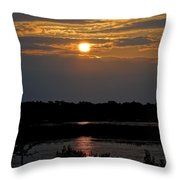 An Outer Banks Of North Carolina Sunset Throw Pillow
