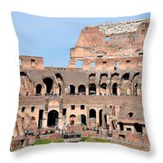 Colosseum In Rome Throw Pillow