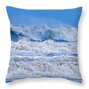 Hurricane Storm Waves Throw Pillow