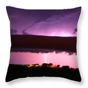 Nebraska Roll Cloud A Cometh Throw Pillow
