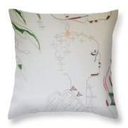 The Wise Virgin Throw Pillow