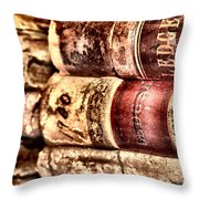 1900 Ledgers Throw Pillow by Nadine Lewis