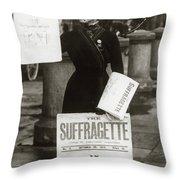 1900s British Suffragette Woman Throw Pillow