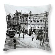 1900s Intersection Of Fair Oaks Throw Pillow