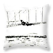 1902 Wright Brothers Glider Tests Throw Pillow