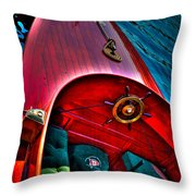 1903 Leighton Antique Boat Throw Pillow