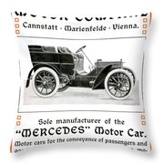 1904 - Daimler Motor Company Mercedes Advertisement - Color Throw Pillow