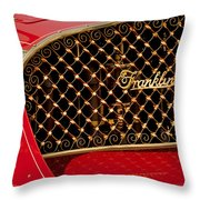 1904 Franklin Open Four Seater Grille Emblem Throw Pillow