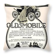 1904 - Oldsmobile Automobile Advertisement Throw Pillow