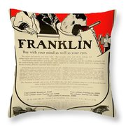 1906 - Franklin Automobile Advertisement - Color Throw Pillow