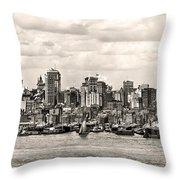1906 Manhattan Panorama Throw Pillow