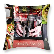 1906 Russell Steam Engine Throw Pillow by Kristie  Bonnewell