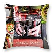 1906 Russell Steam Engine Throw Pillow