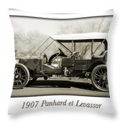 1907 Panhard Et Levassor Throw Pillow