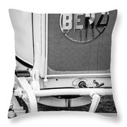 1908 Benz Prince Heinrich Two Seat Race Car Grille Emblem -1696bw Throw Pillow