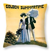 1908 - I'll Be With You In The Golden Summertime - Lew Bonner And J.j. Bachman - Sheet Music - Color Throw Pillow
