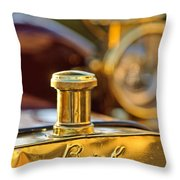 1909 Buick Model F Touring Hood Ornament Throw Pillow