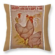 1909 California State Fair Poster Throw Pillow