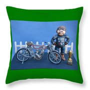 1909 Hog Throw Pillow