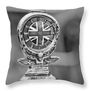 1909 Rolls-royce Silver Ghost Hood Ornament Throw Pillow