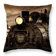 1909 Steam Engine 1909 Throw Pillow by Jeanne  Bencich-Nations