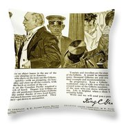 1910 - Gillette Mens Shaving Advertisement Throw Pillow