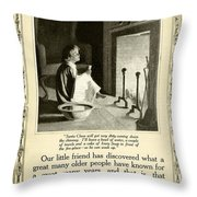 1910 - Ivory Soap Christmas Proctor And Gamble Advertisement  Throw Pillow
