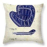 1910 Baseball Patent Drawing 2 Tone Throw Pillow