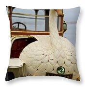 1910 Brooke Swan Car Throw Pillow