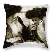 1910 Studying The Torah Throw Pillow