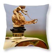 1911 Fiat Tipo 6 Holbrook 4 Passenger Demi-tonneau Hood Ornament Throw Pillow by Jill Reger