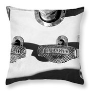 1911 Pope Hartford Model W Control Pedals Throw Pillow by Jill Reger