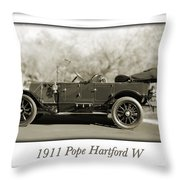 1911 Pope Hartford W Throw Pillow