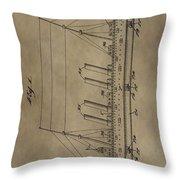 1911 Steamship Patent Throw Pillow