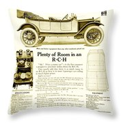 1912 - R C H Automobile Advertisement Throw Pillow