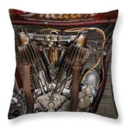 1912 Indian Board Track Racer Engine Throw Pillow
