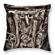 1912 Indian Twin Throw Pillow