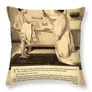 1913 - Proctor And Gamble - Ivory Soap Advertisement Throw Pillow