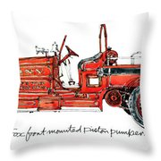 1913 Ahrens-fox Front Mounted Piston Pumper Throw Pillow