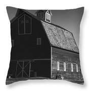 1913 Barn Black And White Throw Pillow
