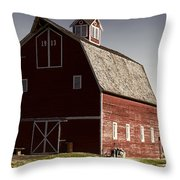 1913 Barn In Montana Throw Pillow