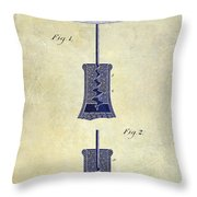 1913 Cork Extractor Patent Drawing 2 Tone Throw Pillow