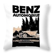1914 - Benz Automobile Poster Advertisement - Color Throw Pillow