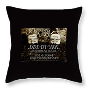 1914 - 2014 Side By Side - In Death As In Life Throw Pillow